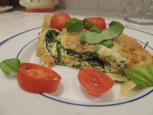 Spinach and Parmesan Frittata * oven