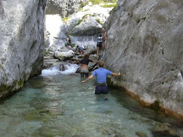 Forra del Cornappo - Nimis (Ud) Not only is the Cornappo stream a speleologists' paradise for its several caves, but it is also a perfect destination for those interested in fishing, because of the abundance of marble trouts and fario trouts.