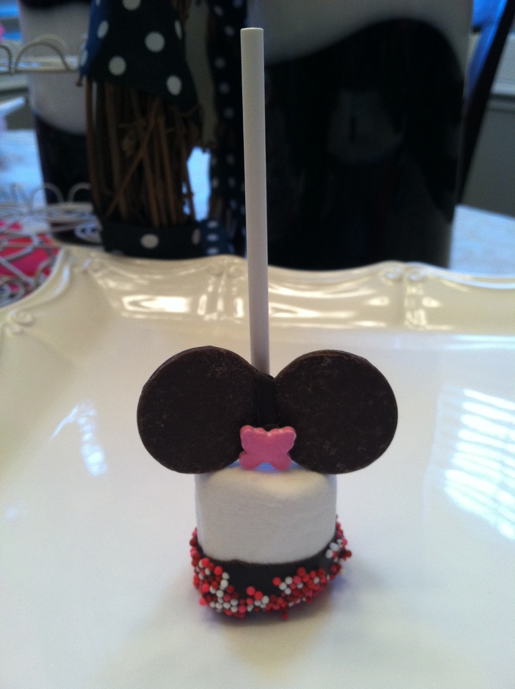Minnie Mouse Marshmallow Pops Minnie Mouse Party