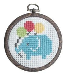 Shop | Category: Crafty Kits | Product: Cross Stitch Kit - Elephant
