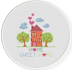 FREE Home Sweet Home Cross Stitch Pattern