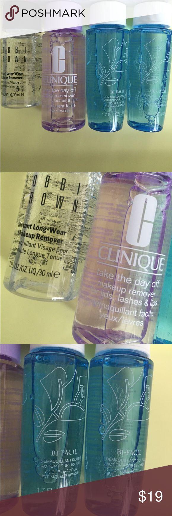 Eye makeup remover bundle. Lancôme, Bobbi brown All new