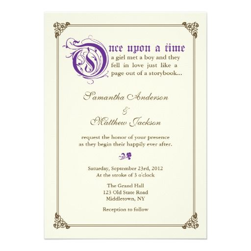 1000+ Ideas About Fairytale Wedding Invitations On
