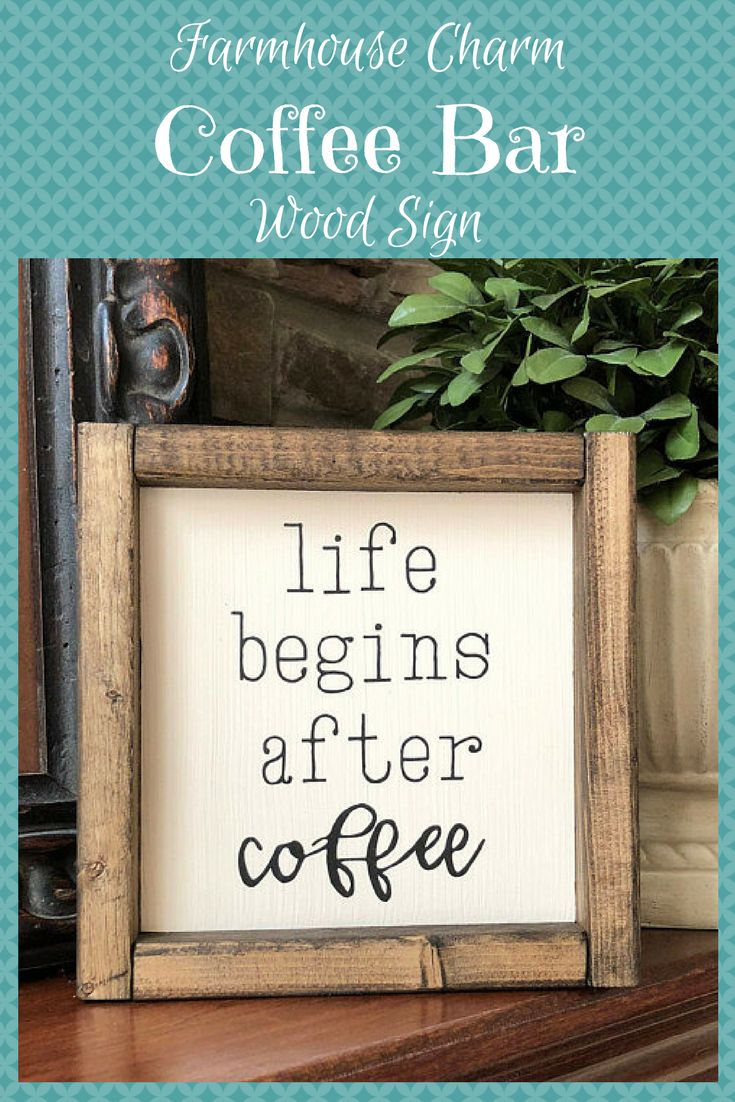 Life Begins After Coffee Sign | Thin Font | Farmhouse Style | Mother's Day Gift | Coffee Bar Sign | Housewarming Gift #wood #woodsigns #afflink #coffee #coffeetime #coffeelovers #rustic #rustickitchen #rusticfarmhouse #farmhouse #farmhousestyle
