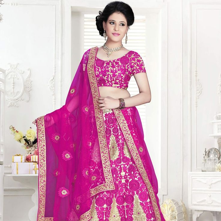 Buy Trendy Pure Net Designer Lehenga In Pink Colour.  #designerclothing #lehenga #trends