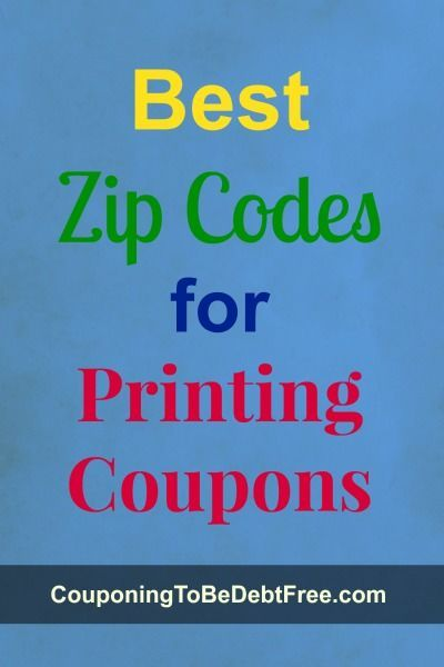 Here's a list of zip codes to check to find printable coupons.