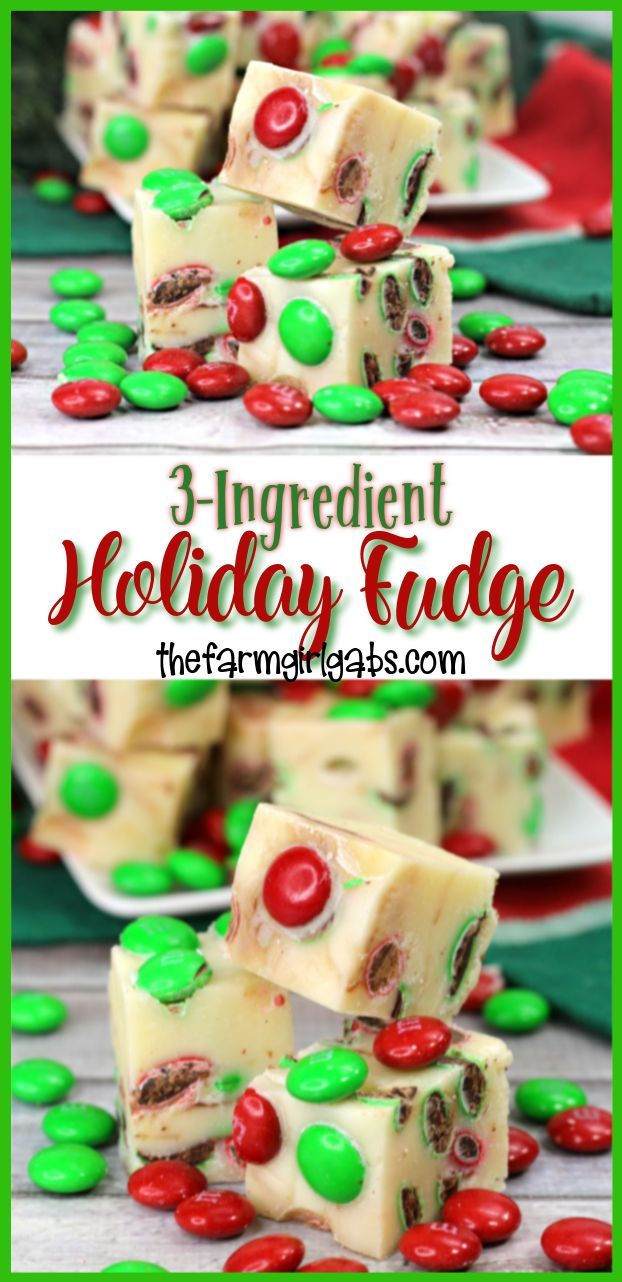 Easy 3-Ingredient Holiday Fudge   Recipe   Sweets Sweets
