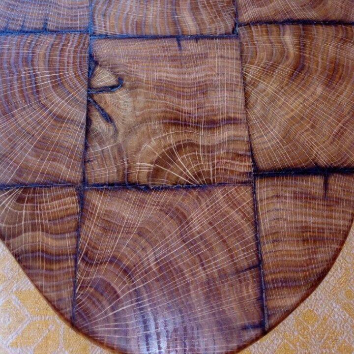 Cutting board end oak.