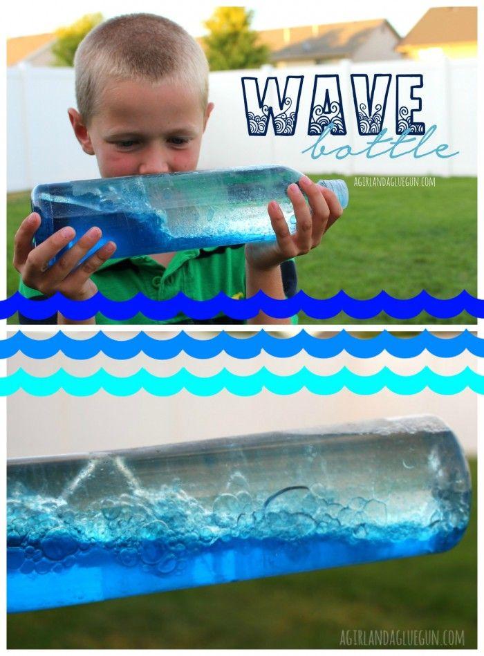 wave bottle --a girl and a glue gun