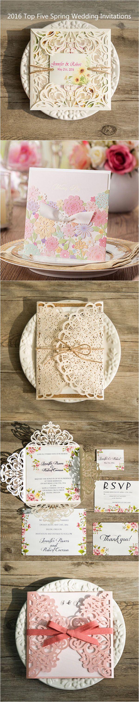 2016 top five spring wedding invitations