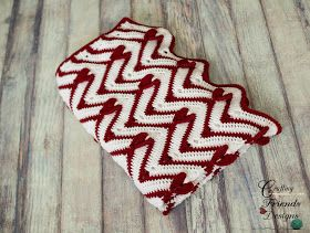 New unique Heartbeat Chevron Afghan Crochet Pattern from Crafting Friends Designs. Perfect for Valentines