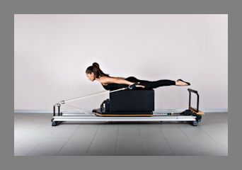 Pilates Positions | You are working against resistance on the Pilates reformer so a good ...