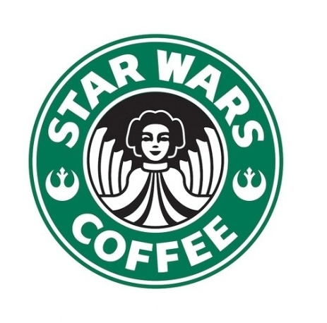 Star Wars / Starbucks Coffee.  princess leia
