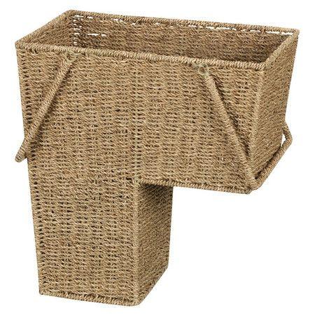 Best Seagrass Stair Basket Stair Basket Household Essentials 400 x 300