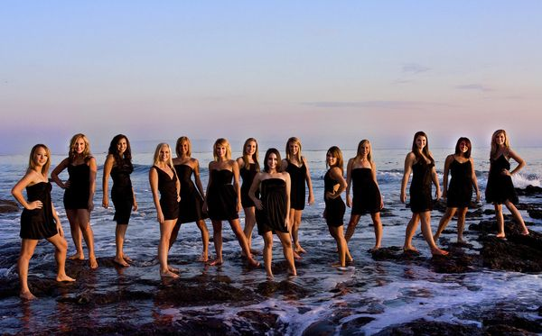 dance Team Photo Ideas | It was a great sunset photoshoot at Shell Beach outside San Luis ...