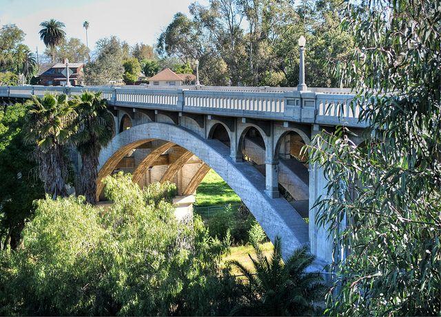 Victoria Avenue Bridge, Riverside Ca.  Used to ride my bike to school over this bridge.