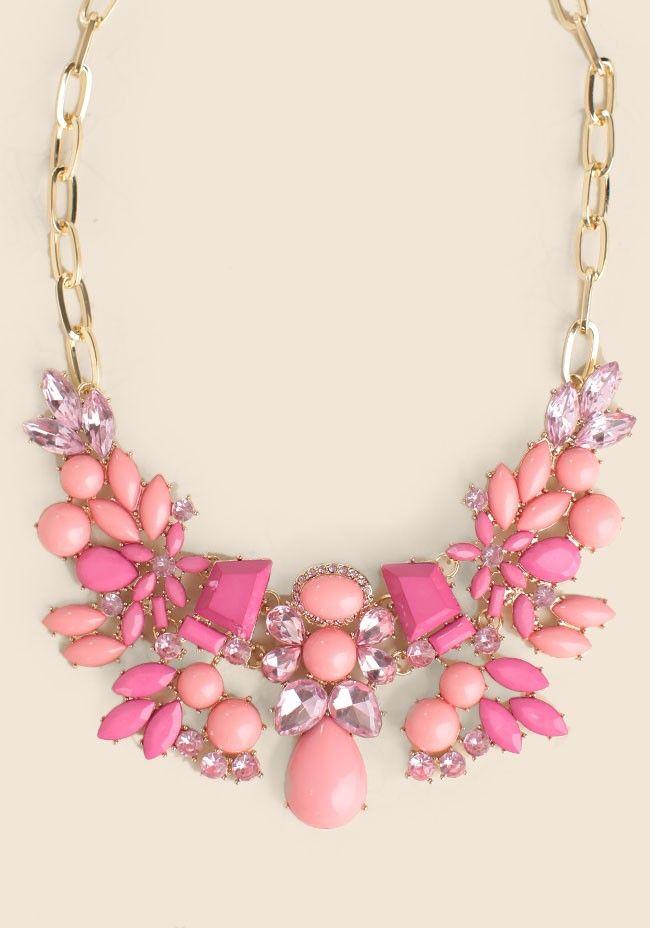 pretty jeweled necklace