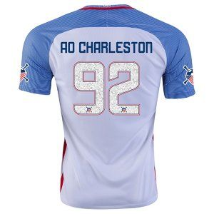 9e8e29857 ... Soccer Team CHARLESTON 92 American Outlaws Home Replica Jersey E31 US Soccer  Nike Womens Away Replica Stadium Custom Jersey - BlackBlueRed Megan Rapinoe  ...