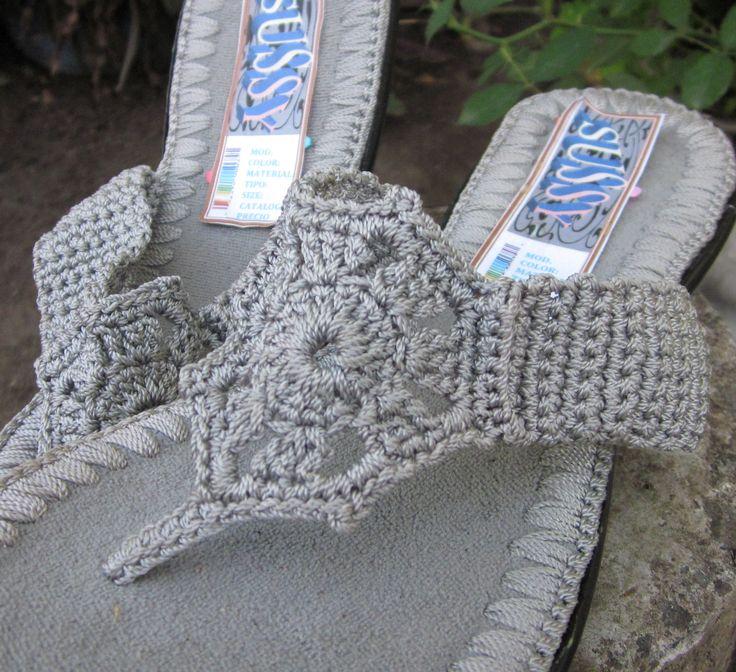GlobeIn: Handmade crochet sandals #crochet #sandals