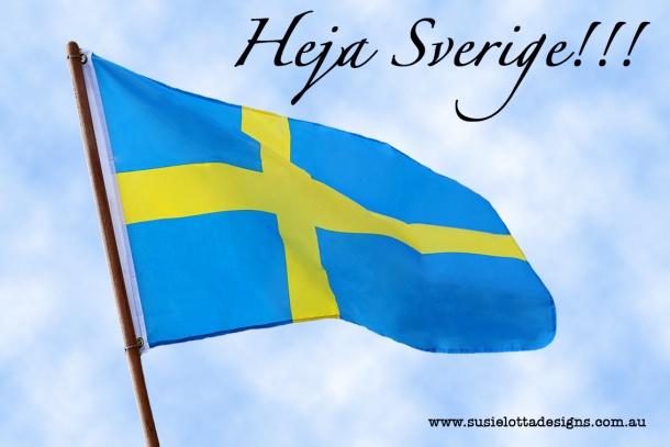 Swedish Flag - Svenskaflaggan - Heja Sverige