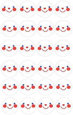 Rullatonttujen kasvot. Free printable patterns. lasten   askartelu   joulu   käsityöt   koti   tonttu   tontut   DIY ideas   kid crafts   christmas   home   elves   Pikku Kakkonen