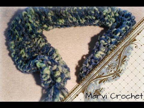 Tutorial sciarpa,scaldacollo,uncinetto/crochet infinity scarf - YouTube