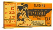 1950 Alabama vs. Tennessee football ticket canvas art. Vintage football art. The best Tennessee football gifts made from historic Tennessee football tickets in the 47 STRAIGHT Collection™ of the greatest college football tickets of all-time. http://www.tennesseefootballgifts.com/ Tennessee football gifts! #gifts