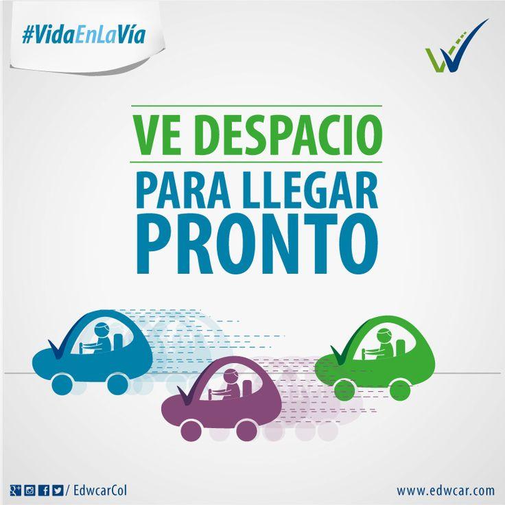 #ConduTip para preservar la #VidaEnLaVía:  Ve despacio para llegar pronto.  Trip Driving