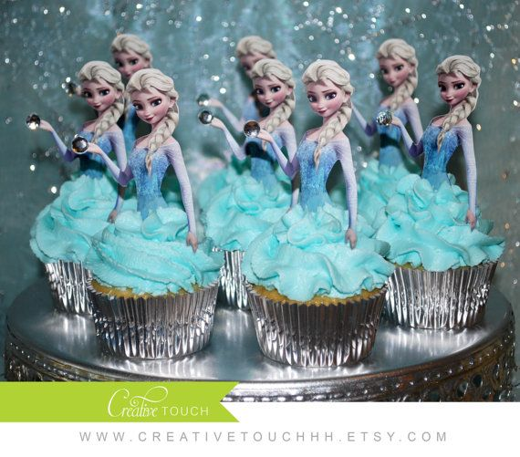 Frozen décorations à Cupcake, cupcake a Elsa, Frozen anniversaire, Birthday Elsa, Frozen Party, Elsa, Anna, Olaf, Cupcake, décoration, inviter, 1