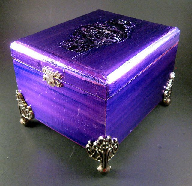 Altered Cigar Box by Angela Donohoe