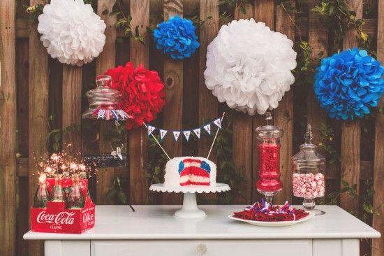COUNTRY WEDDING CANDY BAR | usa patriotic wedding candy bar ideas Nessa K Photography 550x366 ...