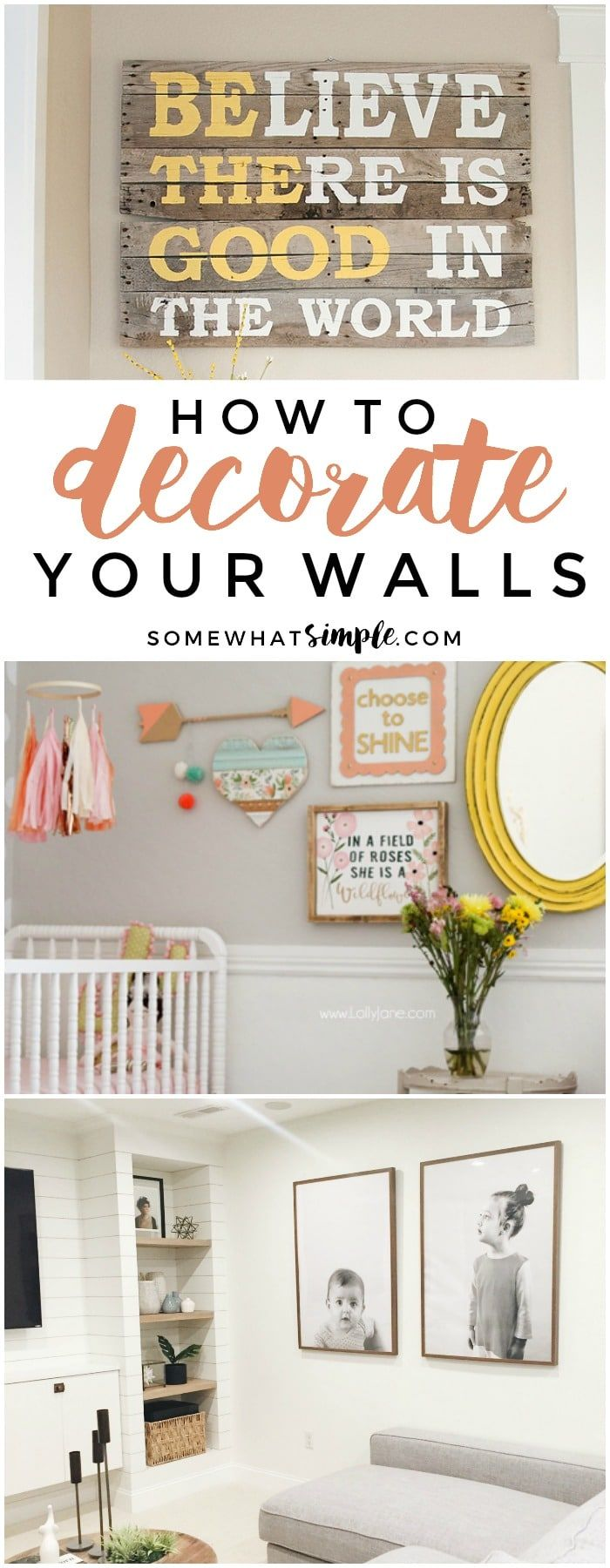 Today we're featuring some of our favorite wall decor ideas to help make your blank walls beautiful!