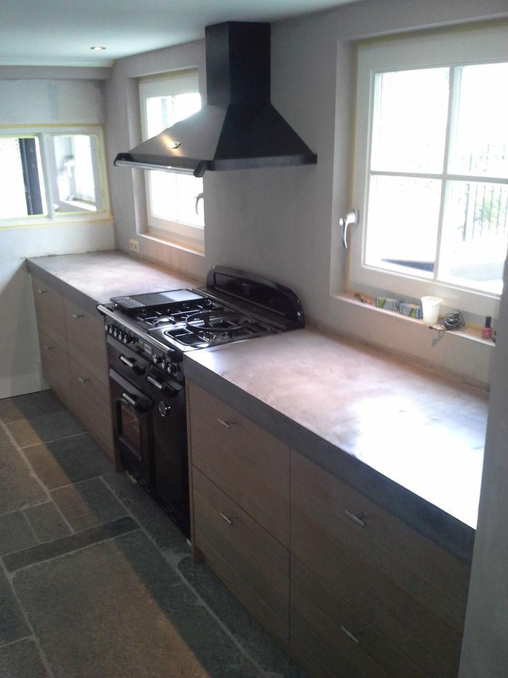 Meer dan 1000 idee n over keuken aanrecht op pinterest kwarts keuken werkbladen toestellen en - Kwarts beton ...
