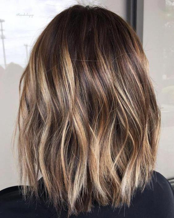 Beautiful brown balayage short hair.. #brownbalayageshorthair