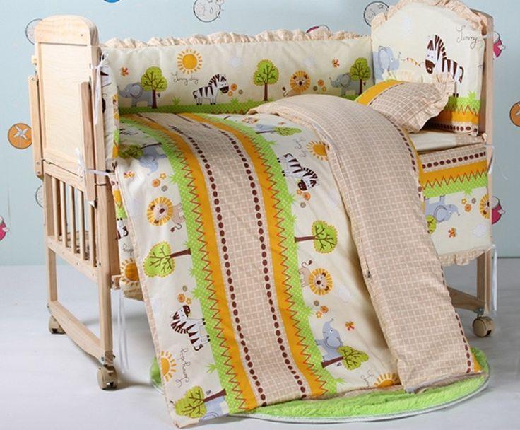 79.90$  Buy now - http://ali00u.worldwells.pw/go.php?t=32343783330 - Promotion! 10PCS Duvet, Baby cot bedding set Bed Linen cot bumper 100% cotton cribs for baby (bumpers+matress+pillow+duvet)