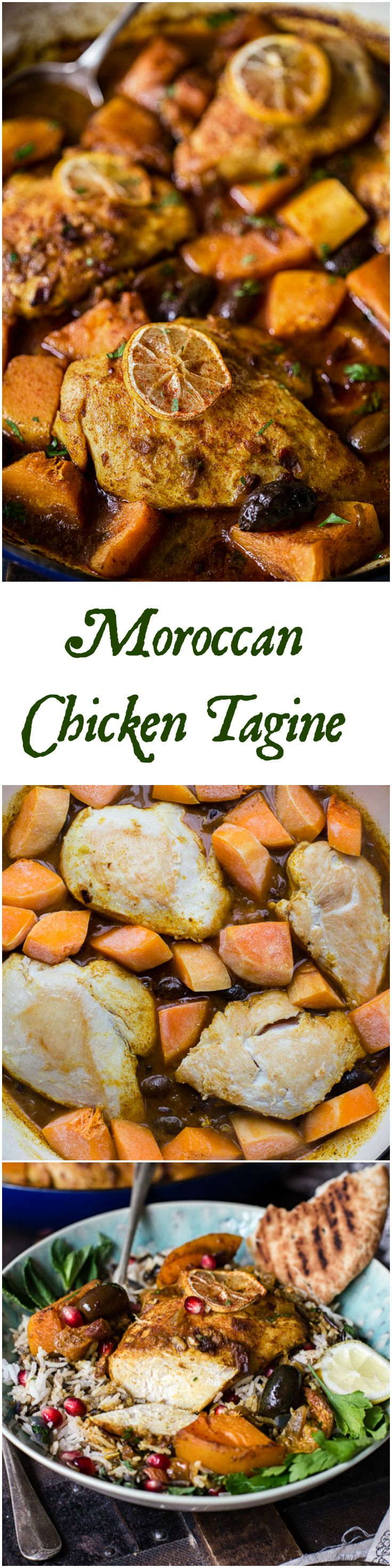 This Moroccan Chicken Tagine flavoured with warm and aromatic spices is a huge crowd pleaser due to its delicious and exotic taste!