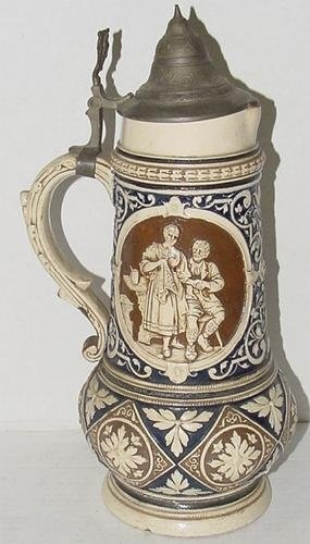 GERMAN POTTERY BEER STEIN 14