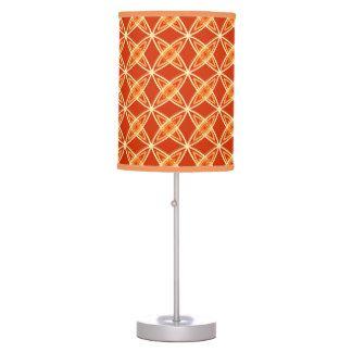 Mid Century Modern Atomic Print - Mandarin Orange Desk Lamp