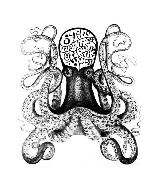 Octopus by Luca Barcellona - Calligraphy & Lettering Arts, via Flickr