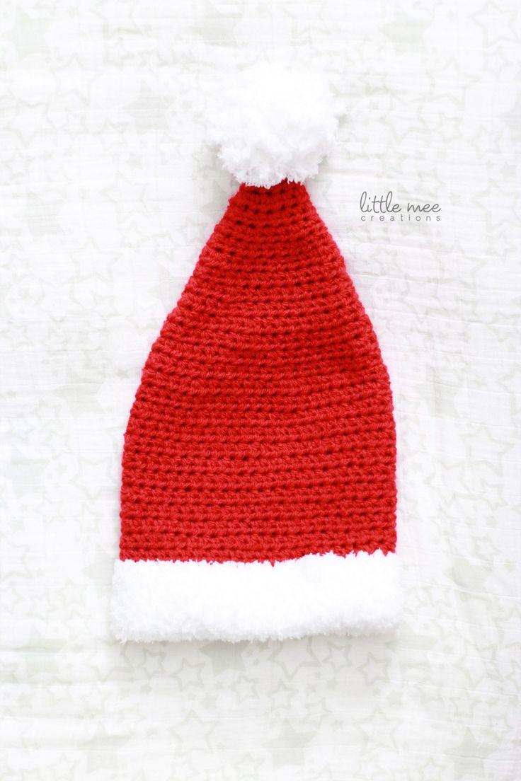 Crochet Pattern Santa Hat Baby : baby santa hat free crochet pattern littlemeecreations ...