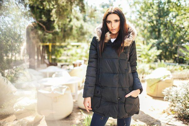 Зимняя куртка пальто Marta черная
