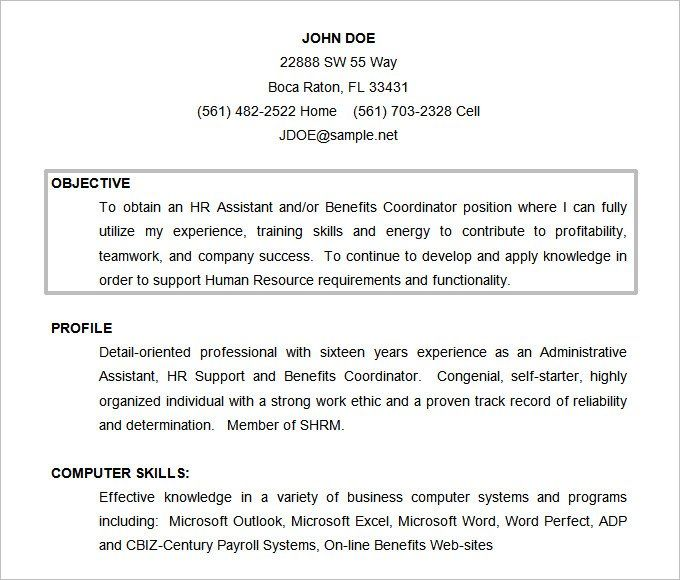 Resume Format Objective Resume Objective Sample Resume Objective Good Objective For Resume