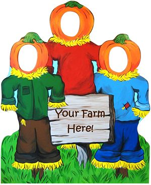 pumpkin patch/scarecrow sign