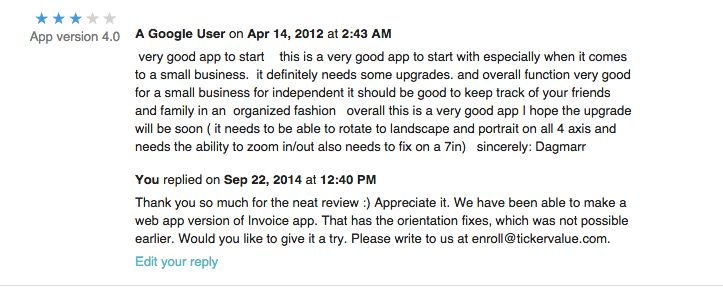 #Customer #Review on #Invoice #app for tablets Link - https://play.google.com/store/apps/details?id=com.aspiring.invoice… iPad- https://itunes.apple.com/us/app/invoice-suite/id465587615?mt=8… #business
