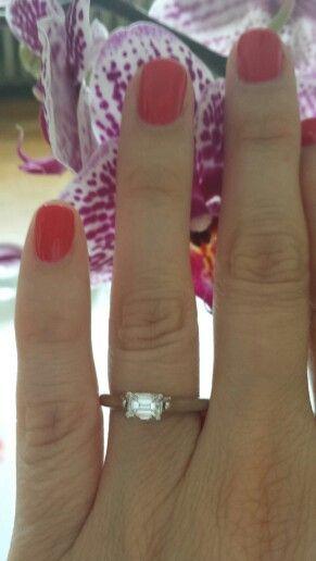 My engagement ring <3 horizontal set emerald cut F vvs2 diamond