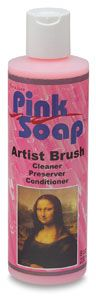 Pink Soap Artist Brush Cleaner - BLICK art materials - this stuff is amazing...I used this to clean a brush that I had forgotten about. It was caked with acrylic paint and set around for a month...It's clean and I still use the brush
