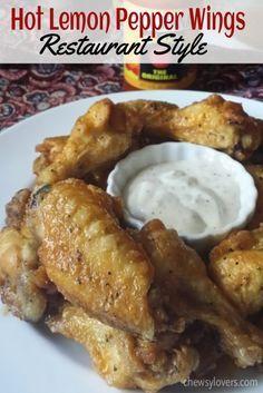 Hot Lemon Pepper Wings – Restaurant Style