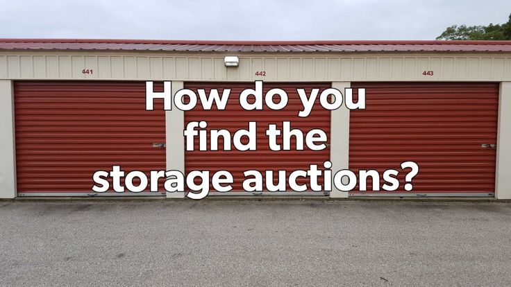 How do you find storage auctions like on Storage Wars?
