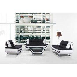 3032C Modern Black and White Sofa Set - 1180.0000h