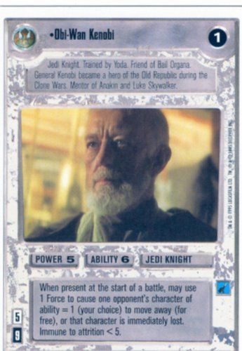 Collectible Trading Card Counters - Star Wars CCG Premiere Unlimited WB Rare ObiWan Kenobi >>> More info could be found at the image url.